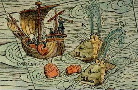 From the 500 year old map known as Carta Marina. It is in the public domain.