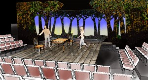 """The design for """"The Crucible"""" created in SketchUp with details added in Piranesi"""