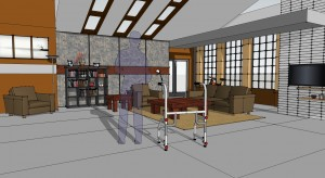 The SketchUp model for the set design
